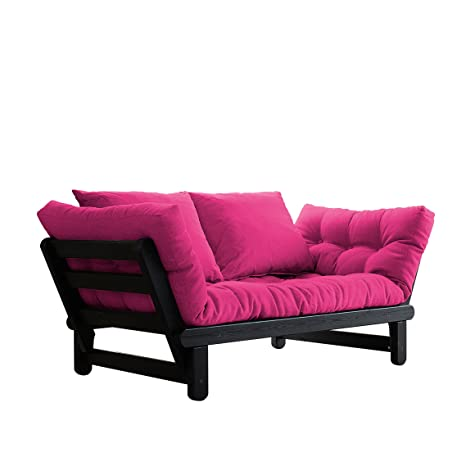 Amazon.com: Fresh futon Beat Negro Convertible futon Sofa ...