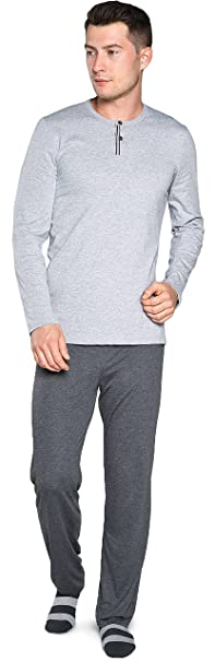 Italian Fashion IF Pijamas para Hombre IF180044 (Melange/Melange Centro, XL)