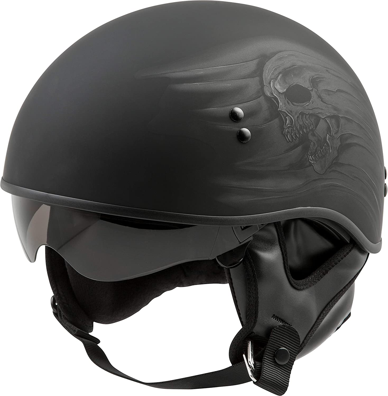 GMax GM65 Ritual Mens Naked Half Street Riding DOT Motorcycle Helmets
