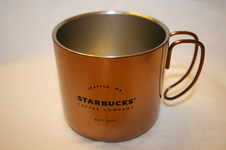 StarbucksステンレスSteel Cup with Wireハンドル 12 Fl Oz ブラウン B01N653BO3 コッパー コッパー