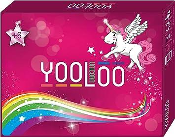YOOLOO Unicorn – El Divertido Juego de Cartas para niños, Padres y Amigos de los Unicornios (de 2 a 8 Personas, 2 Variantes de Juego): Amazon.es: Juguetes y juegos