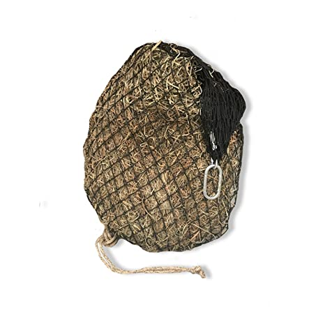 hay chix Slow Feed Hay Net for [Horse and Livestock Health, hay Feeder, hay  net, Slow Feed hay net] Save Your time, hay and Money! Half Bale Net (1