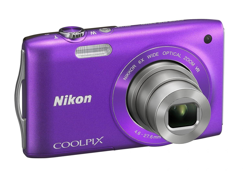 Nikon Coolpix S3300 Digital Camera Purple 2 7 inch Amazon