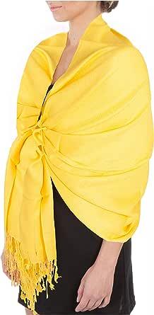 "Sakkas - 78""x 28"" Pashmina suave con diseño de Paisley (foulard) - bufanda sedosa/abrigo /"