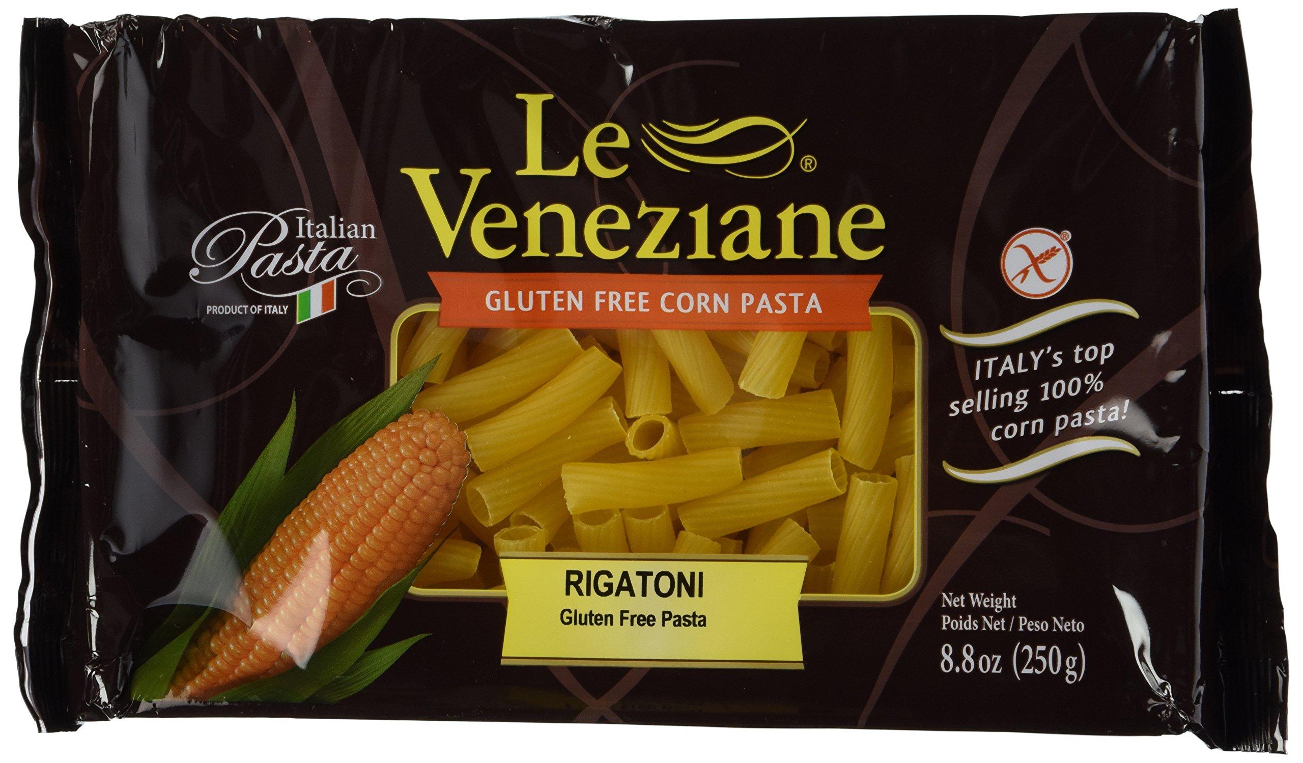 Le Veneziane - Italian Rigatoni Pasta [Gluten-Free], (4)- 8.8 oz. Pkgs by Le Veneziane