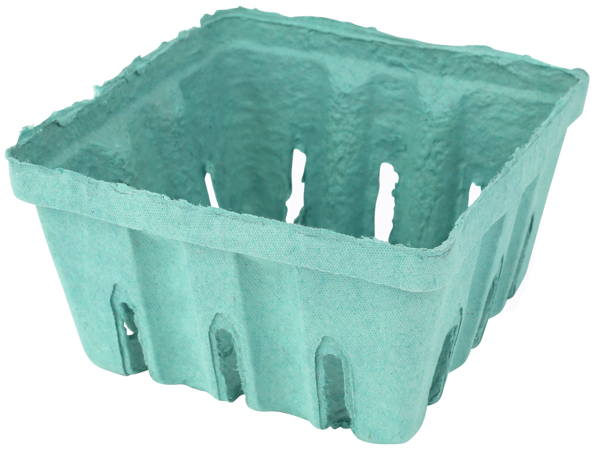 Green Molded Pulp Fiber Berry/Produce Vented 1/2 Pint Basket/Container by MT Products - (15 Pieces)