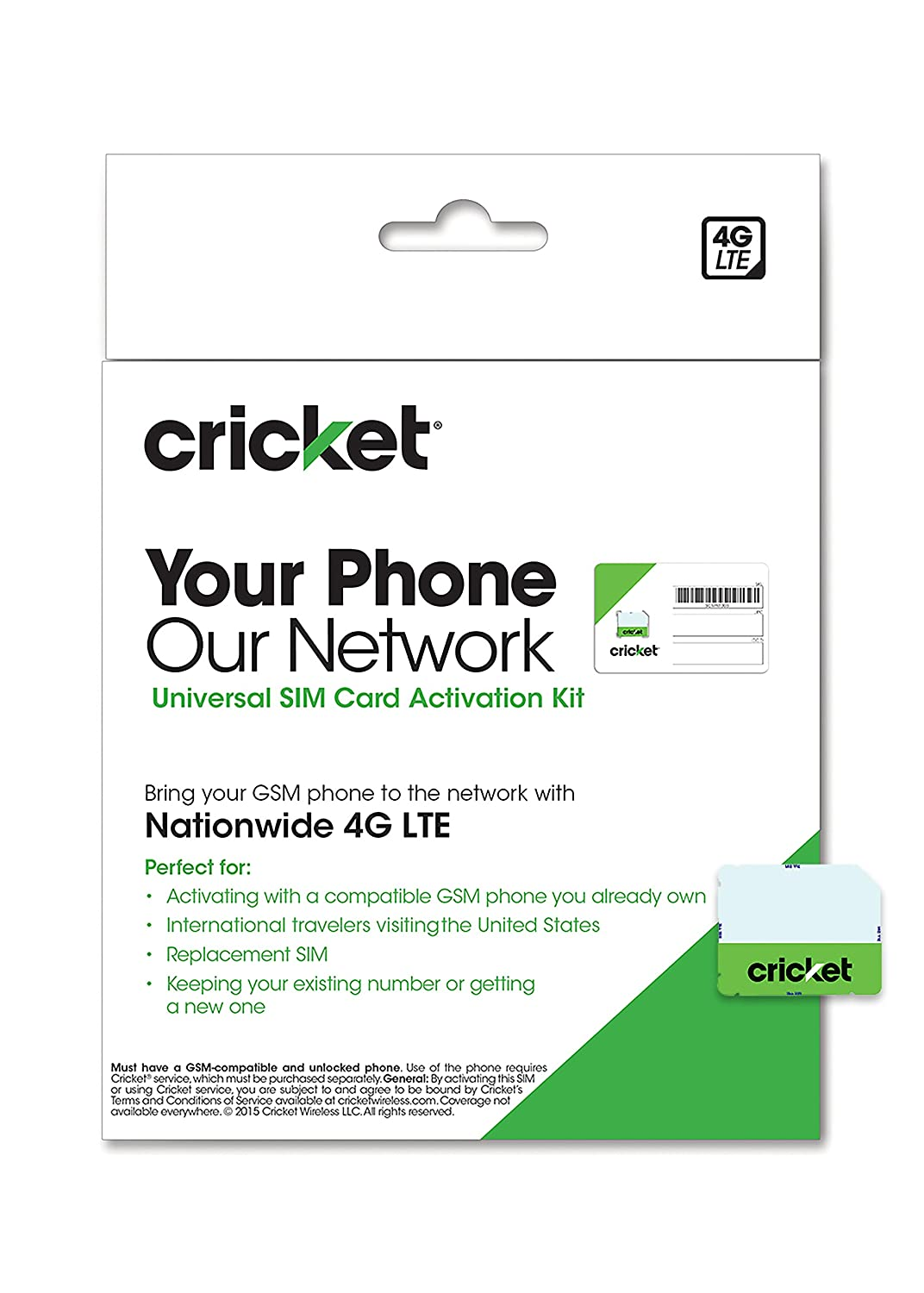 Cricket Wireless Complete Starter Pack: Nano SIM Card with ...