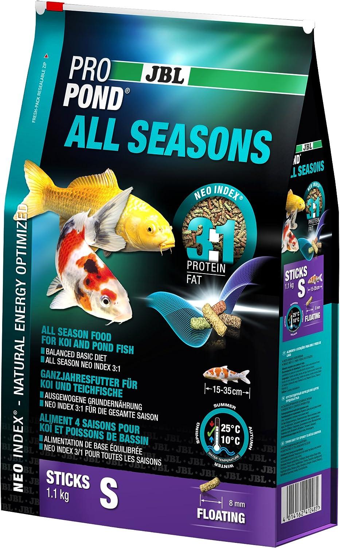 JBL Comida para Todo el año para Koi, pienso Flotante para Todas Las Estaciones, tamaño pequeño, 1,1 kg