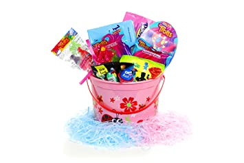 Amazoncom Trolls Theme Easter Basket For Kids Complete Pre Made