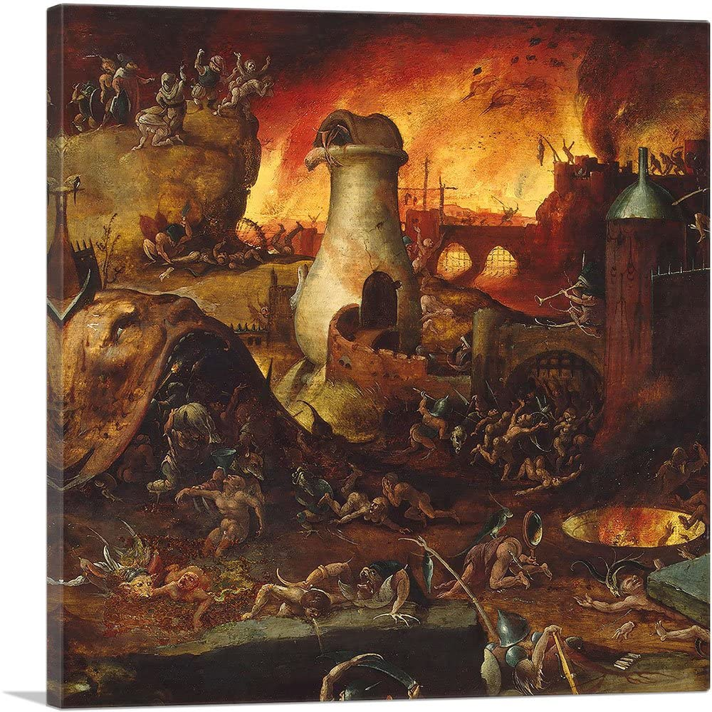 Amazon.com: ARTCANVAS Hell Canvas Art Print by Hieronymus Bosch ...