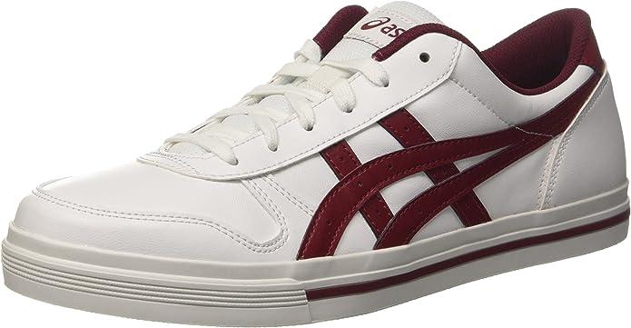 ASICS Aaron Sneakers Damen Herren Unisex Weiß/Burgunderrot Größe 36-49