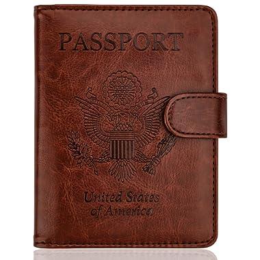 WALNEW Passport Holder Cover Case Travelling Passport Cards Carrier Wallet Case