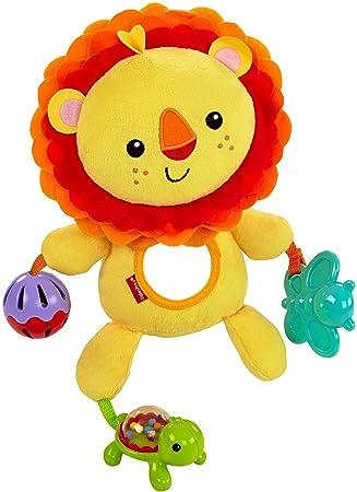 Fisher-Price León de actividades, juguete de peluche para bebé +3 meses (