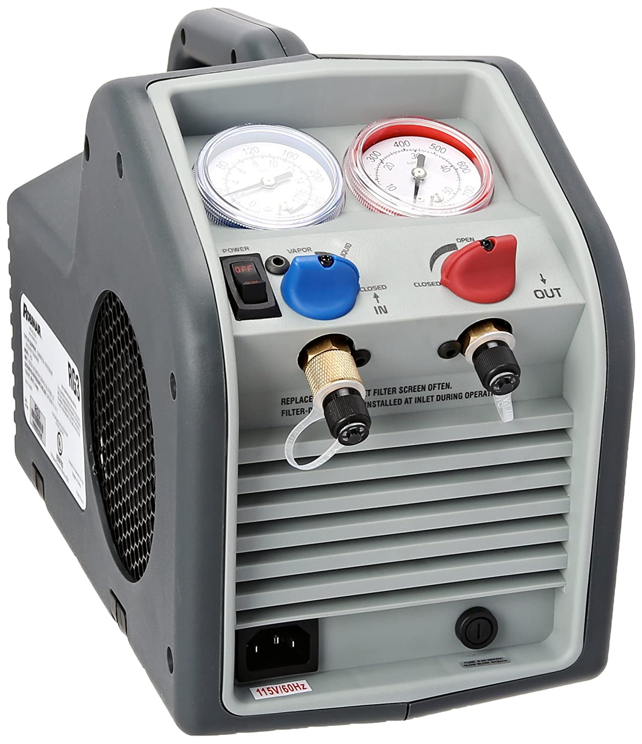 Amazon.com: Robinair RG3 Twin-Cylinder Portable Refrigerant Recovery  Machine - 115V AC, 60 Hz: Automotive