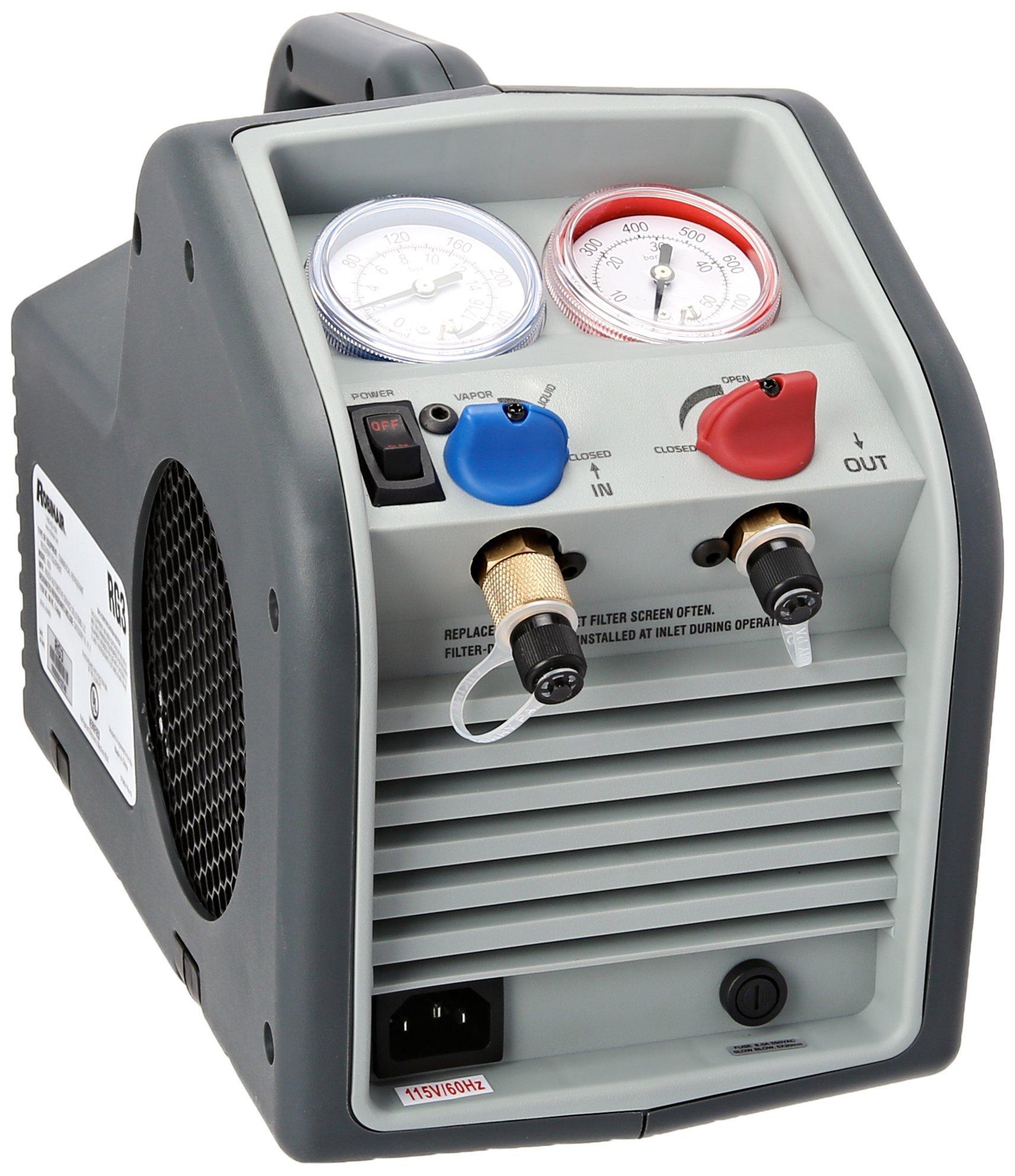 Robinair RG3 Twin-Cylinder Portable Refrigerant Recovery Machine - 115V AC, 60 Hz by Robinair (Image #1)
