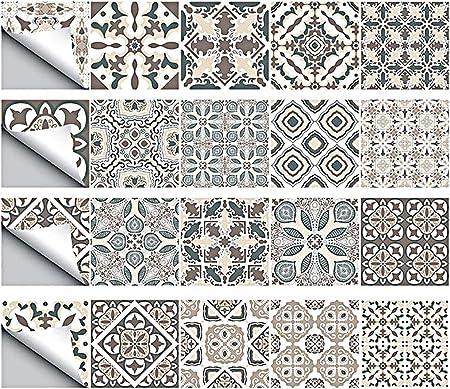 Globaldream Carrelage Mural 20cm Dalle Pvc Adhesive Murale Autocollants Carrelage Salle De Bains Et Cuisine Stickers Carrelage 4 Pieces 100cm X 20cm Amazon Fr Cuisine Maison