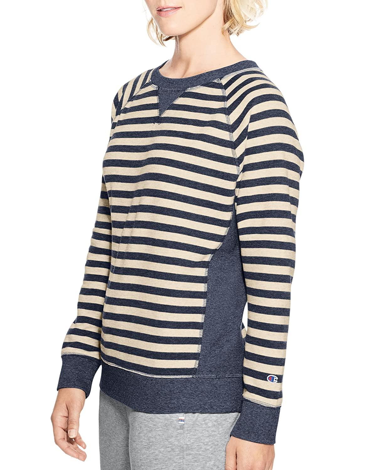 d4d8364d5 Loose-fit crew is garment washed for exceptional softness. Narrower rib neck  with signature striped twill tape at back of neck ...