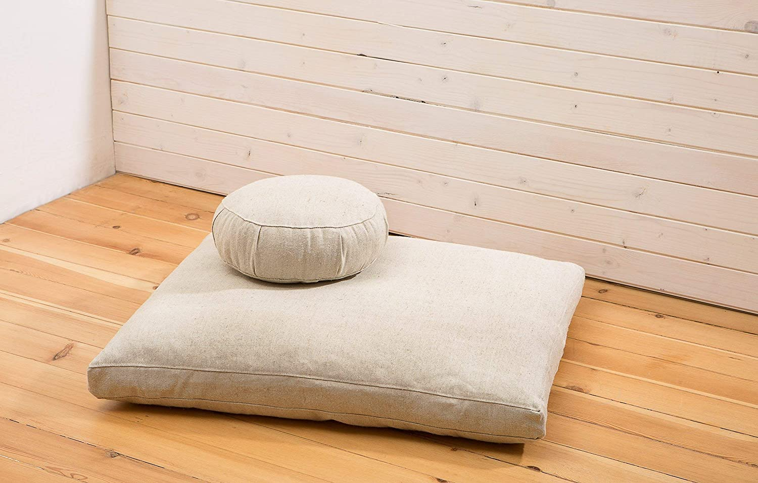 Home of Wool/Wool Meditation Set/Zafu and Zabuton/Non-Toxic Meditation Cushions/Oeko-Tex Certified Filling