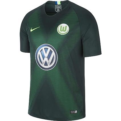 new york 2bd62 243f8 Amazon.com : NIKE 2018-2019 VFL Wolfsburg Home Football ...