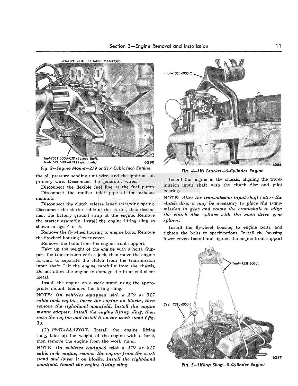 1954 1955 Ford Truck Shop Service Repair Manual Book 8n Torque Specs Automotive