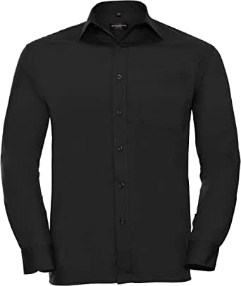 Russell Collection Mens Long Sleeve Shirt
