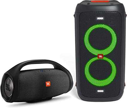 Renewed Black JBL Partybox 100 High Power Portable Wireless Bluetooth Audio System with Battery
