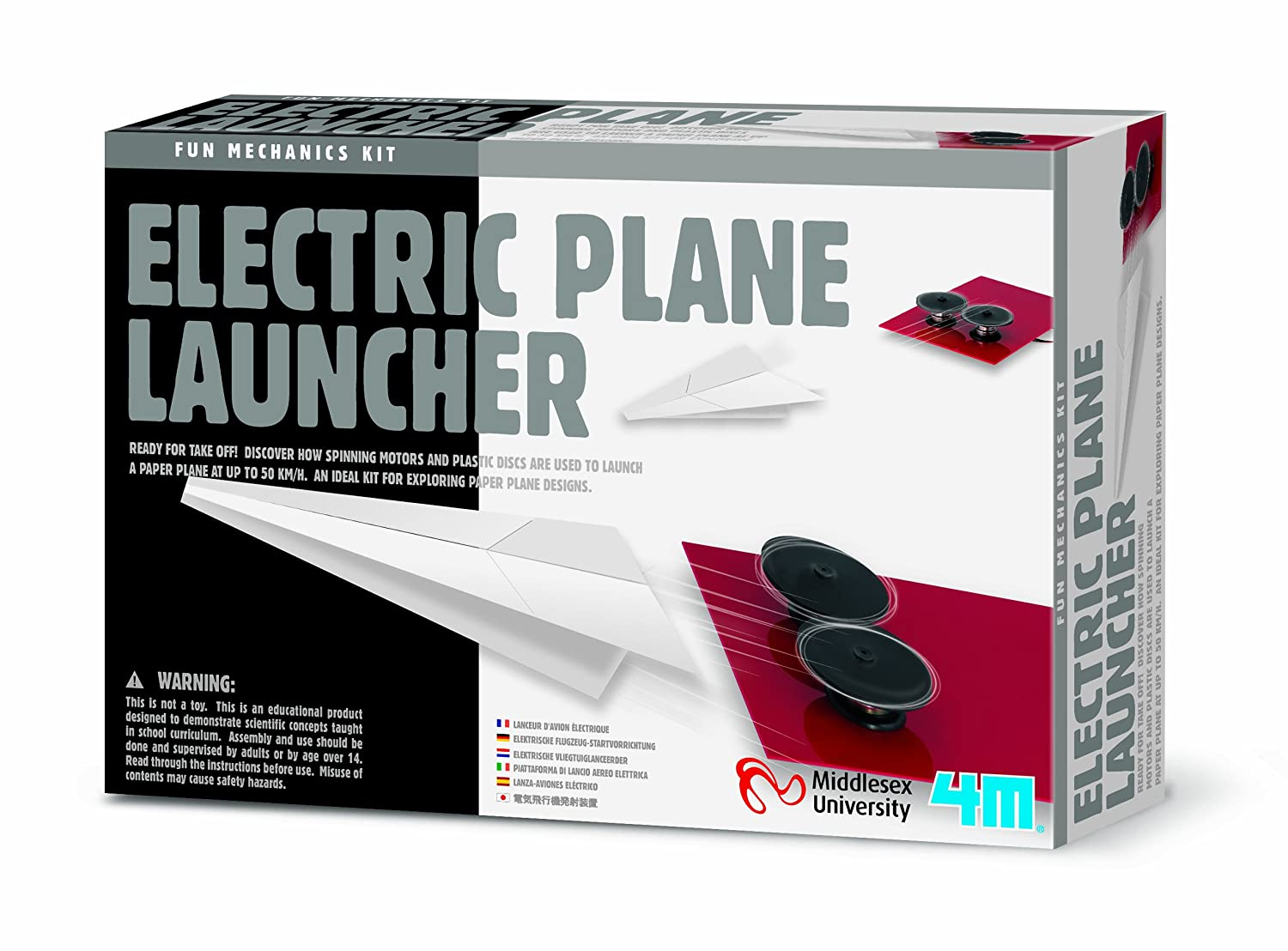 Entertaining Science Set Educational Science Toys /& Games Gift Present Idea For Birthdays Age 14 Girls Boys Teenagers Children Create Electric Paper Plane Launcher