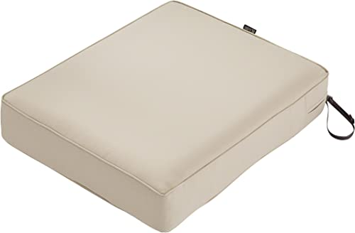Classic Accessories Montlake Water-Resistant 21 x 19 x 5 Inch Patio Seat Cushion