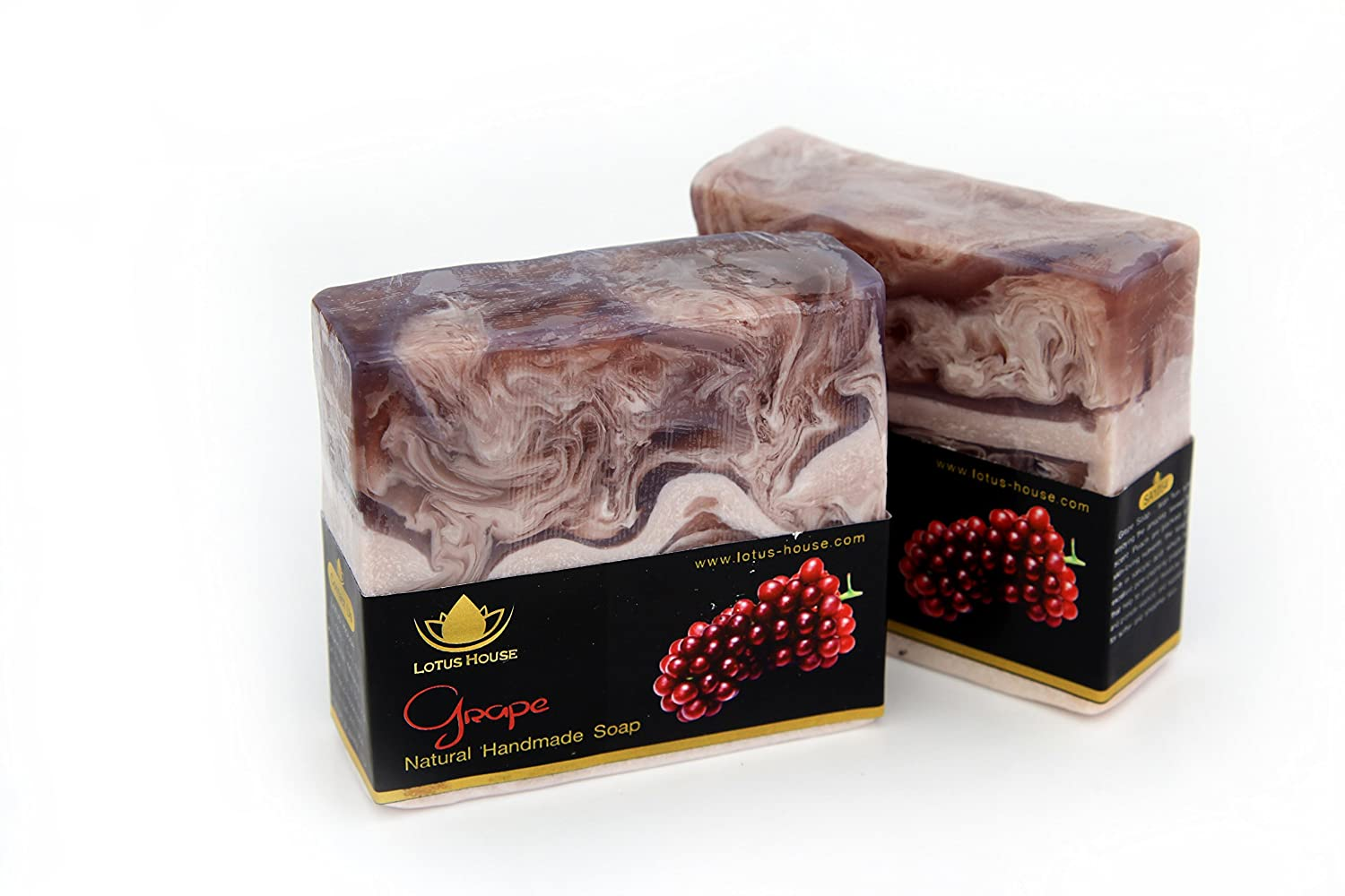 Lotus House Grape Natural Handmade Soap (300g) / 3 Bars