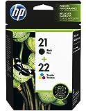 HP 21 Black & 22 Tri-color Original Ink Cartridges, 2 Cartridges (C9351AN, C9352AN)