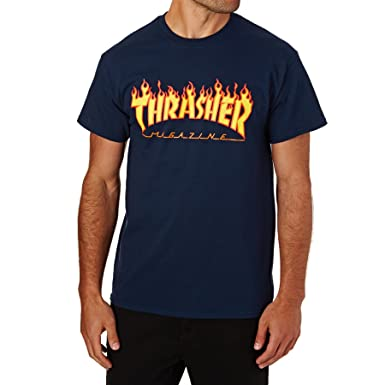 ccaed1a58277 Amazon.com: Thrasher Flame Short Sleeve T-Shirt: Clothing
