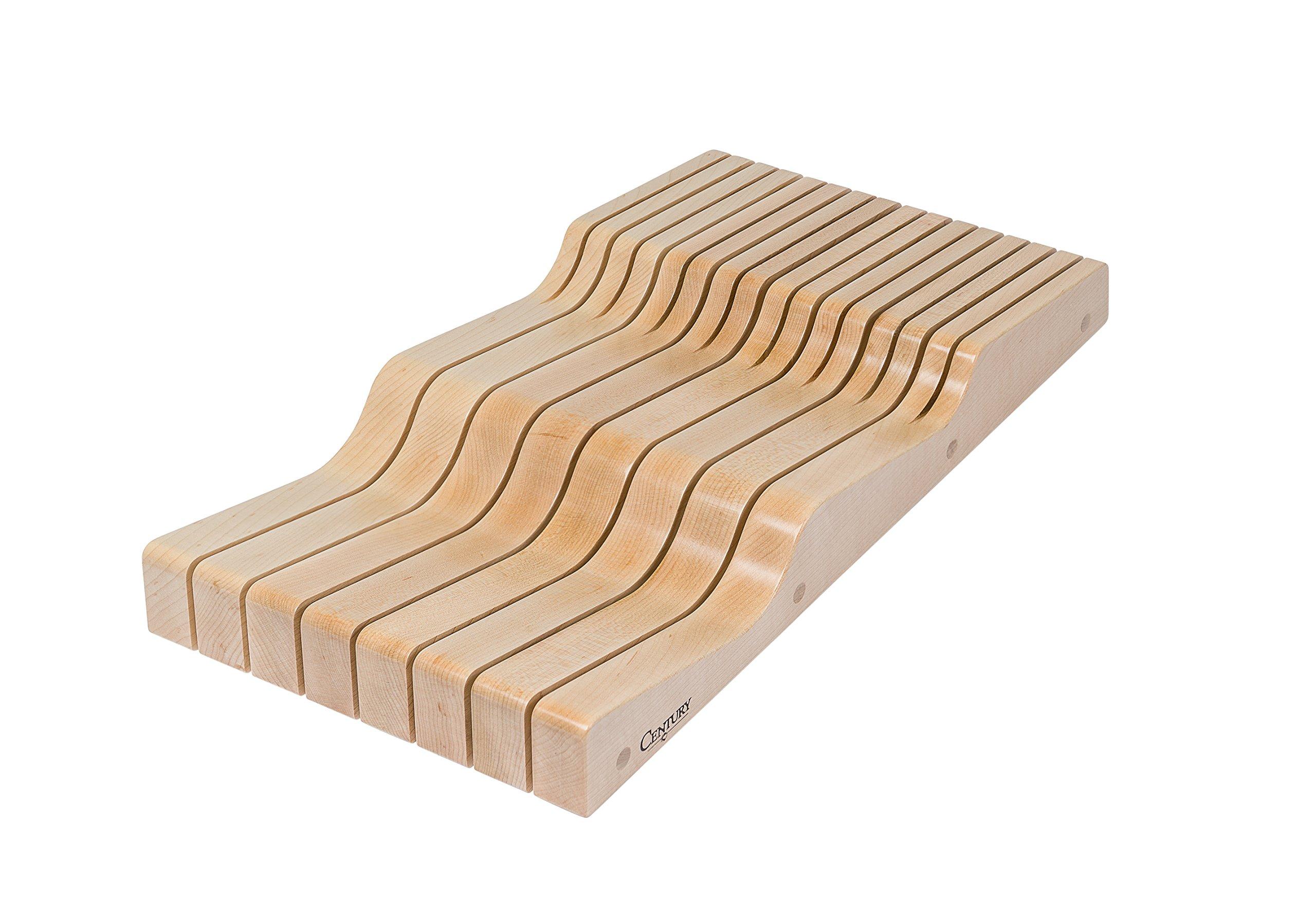 Century Components WKB90PF Wood Knife Block Tray Wave - 15 Knife Slots