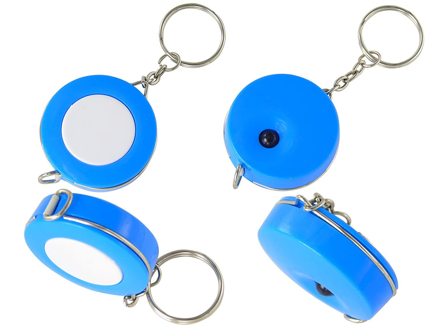 Lontenrea 5 Pack 60-Inch Soft and Retractable Tape Measure With Keychain for Tailor Sewing Body Measure Tape