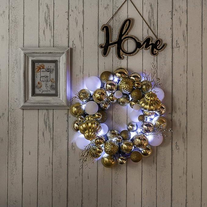 Teresas Collections - Corona de bola de Navidad de 50,8 cm ...