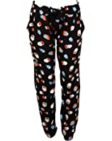 Womens Colorful Drawstring Wide Leg Printed Trousers