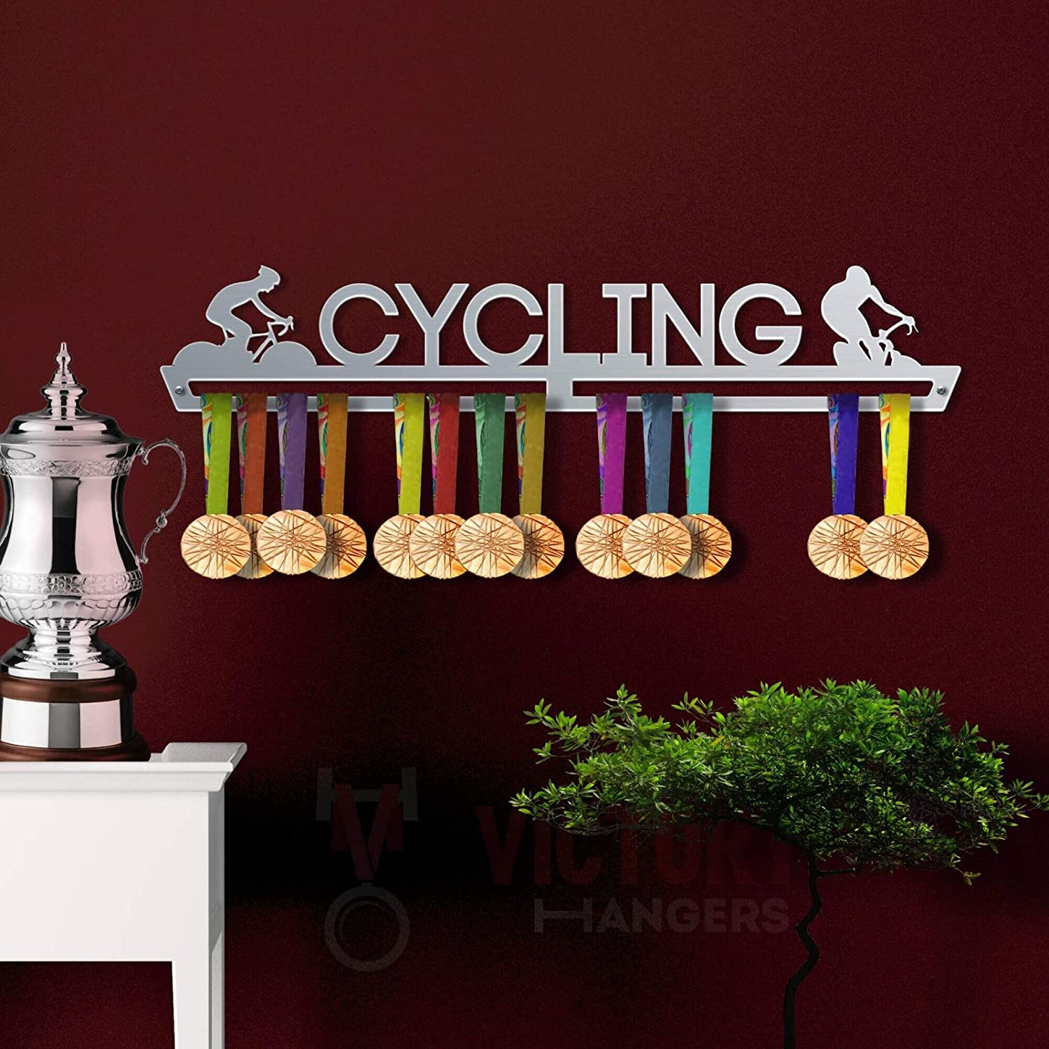 by VictoryHangers Cycling Medal Hanger Display The Best Gift for Champions ! Sports Medal Hangers Stainless Steel Medal Display
