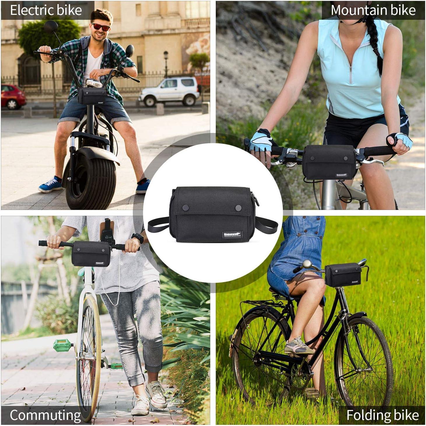 Incluye Correa para el Hombro Extra/íble y Cubierta para la Lluvia BAIGIO Impermeable Bolsa de Manillar de Bicicletas de Carretera y de Monta/ña para Ciclismo