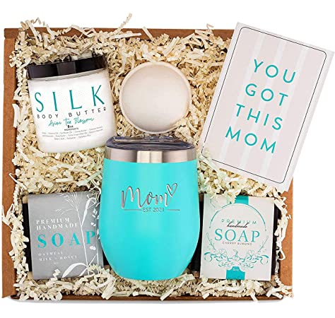 Best Gifts For Mom 2021 Amazon.: New Mom Gifts Ideas   Mom Est. 2021 Spa Bath Box Set
