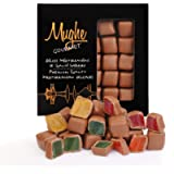 Rose, Mint, Orange and Strawberry Flavored Turkish Delight Lokum Covered with Chocolate in Gift Box Tin, 300g, 20 Pieces…