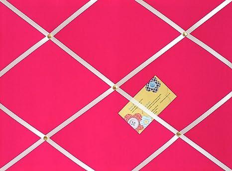 Tamaño mediano rosa hecho a mano tela aviso/Pin/Pizarra con ...