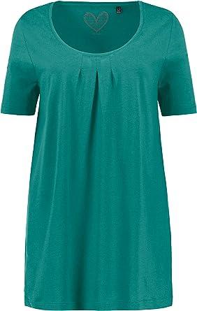 Ulla Popken Womens Plus Size Princess Seam 3 Print Knit Tunic 714003