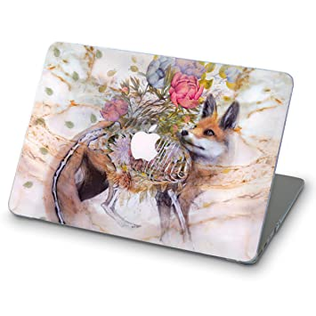 Amazon.com: Fox in Flowers - Carcasa rígida para MacBook ...