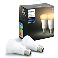 Philips Hue Standaard Lamp 2-Pack - E27 - Duurzame LED Verlichting - Warm tot Koelwit Licht - Dimbaar - Verbind met…