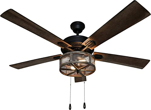 River of Goods 52 Inch Width Farmhouse LED Ceiling Fan