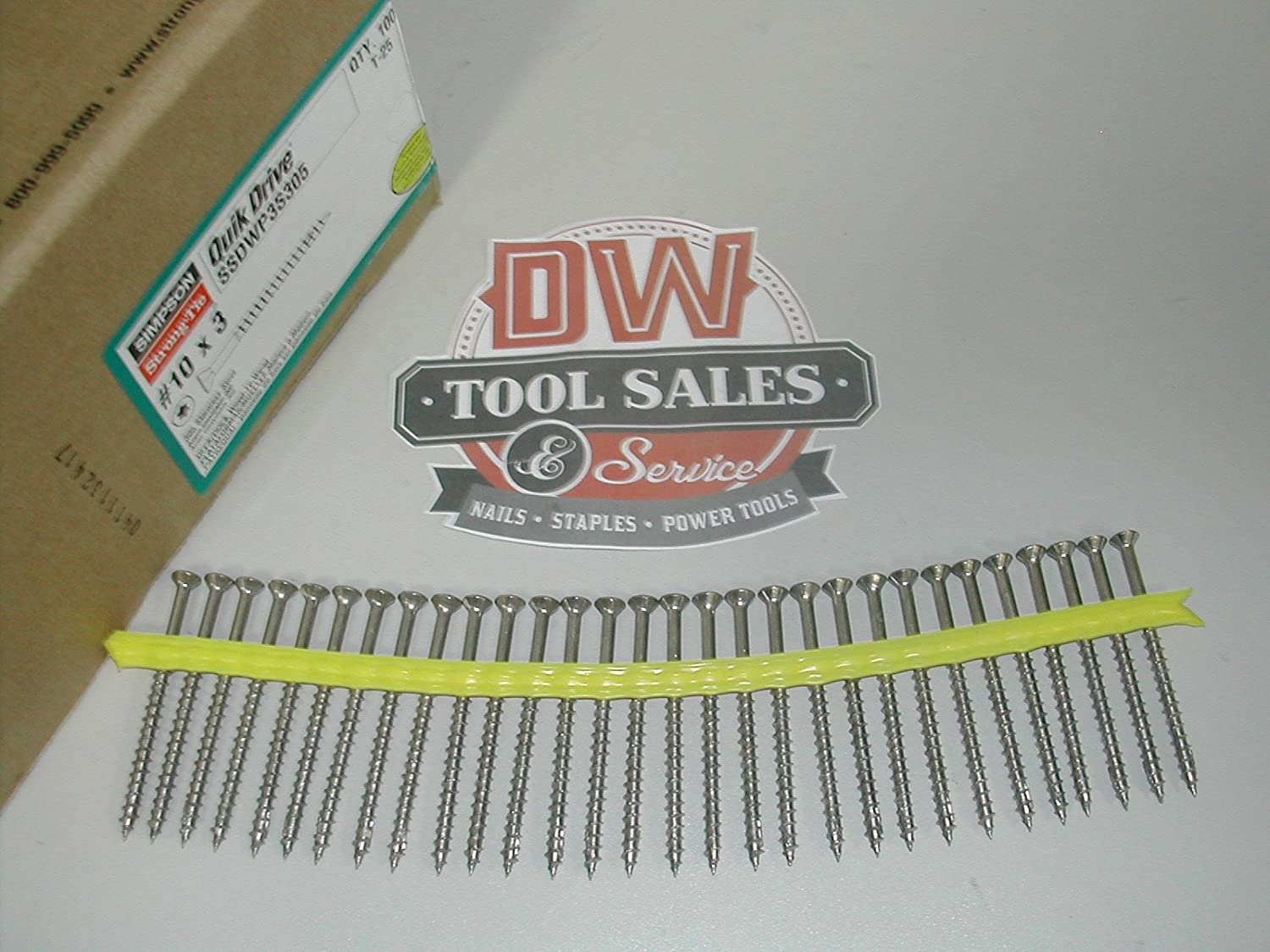 Simpson Strong Tie SSDWP3S305 Deck-Drive/DWP #10 X 3 305 Stainless Steel Collated WP T25 Wood Screw 1000 per tub