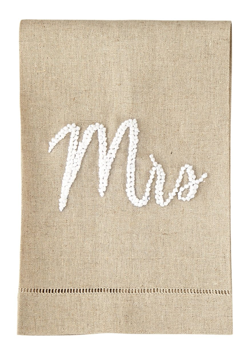 Mud Pie Mr. and Mrs. Soap and Towel Set 4405051