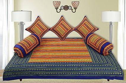 Kuber Industries 6 Piece Cotton Diwan Cover Set - Multicolour
