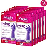 Playtex Living Reuseable Rubber Cleaning Gloves, Premium Protection (Large, Pack - 12)