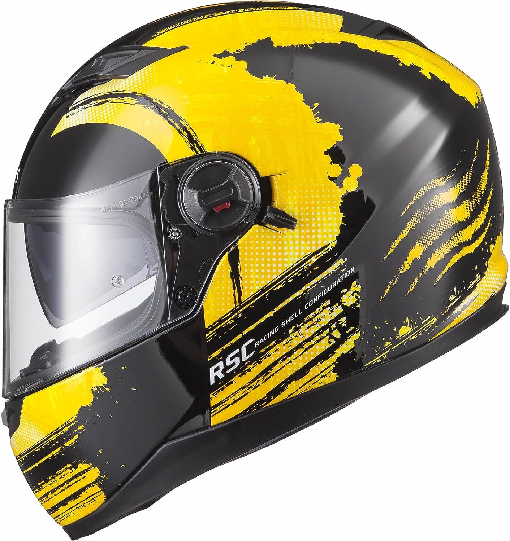 Agrius Rage SV Claw Motorcycle Helmet L Gloss Black//Fluro Yellow