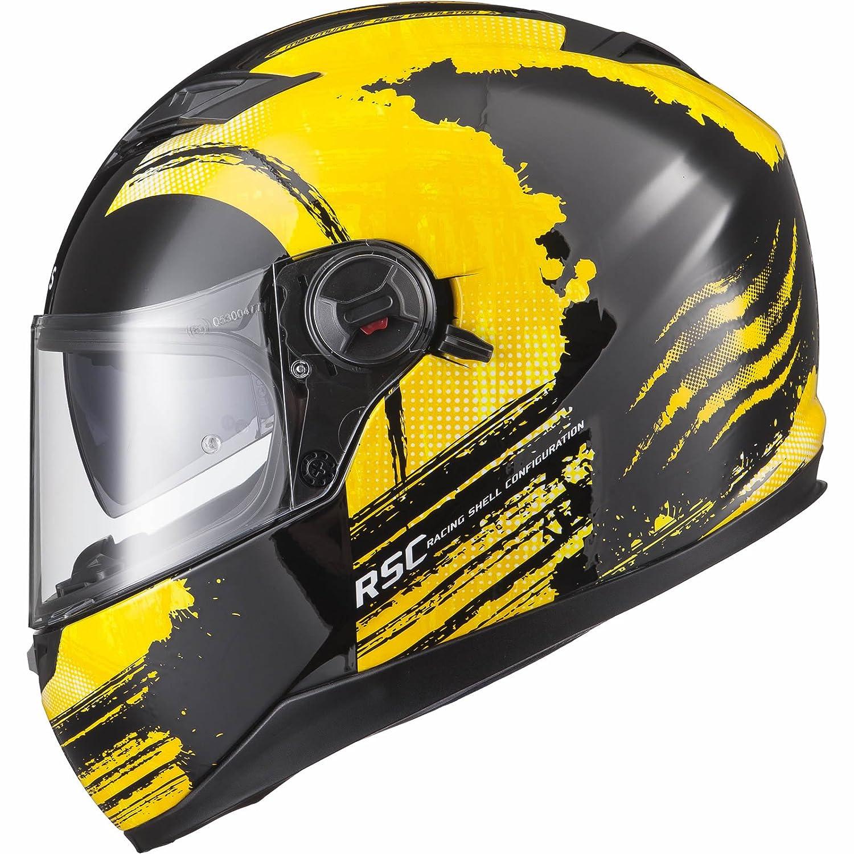 Agrius Rage SV Claw Motorcycle Helmet M Gloss Black/Fluro Yellow